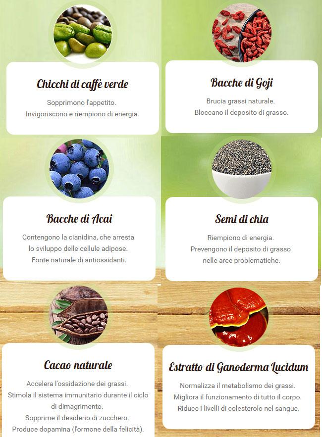 gli ingredienti naturali e biologici di choco lite