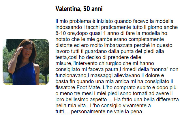 commento su foot mate